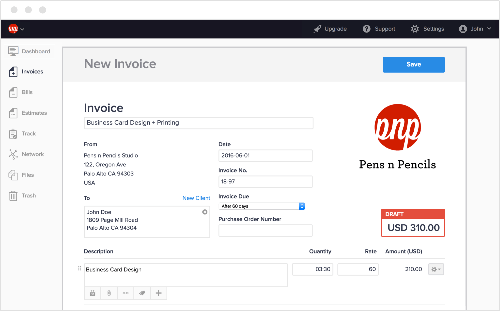 Invoicing Software To Create And Send Elegant Invoices Online Hiveage - How to send an invoice