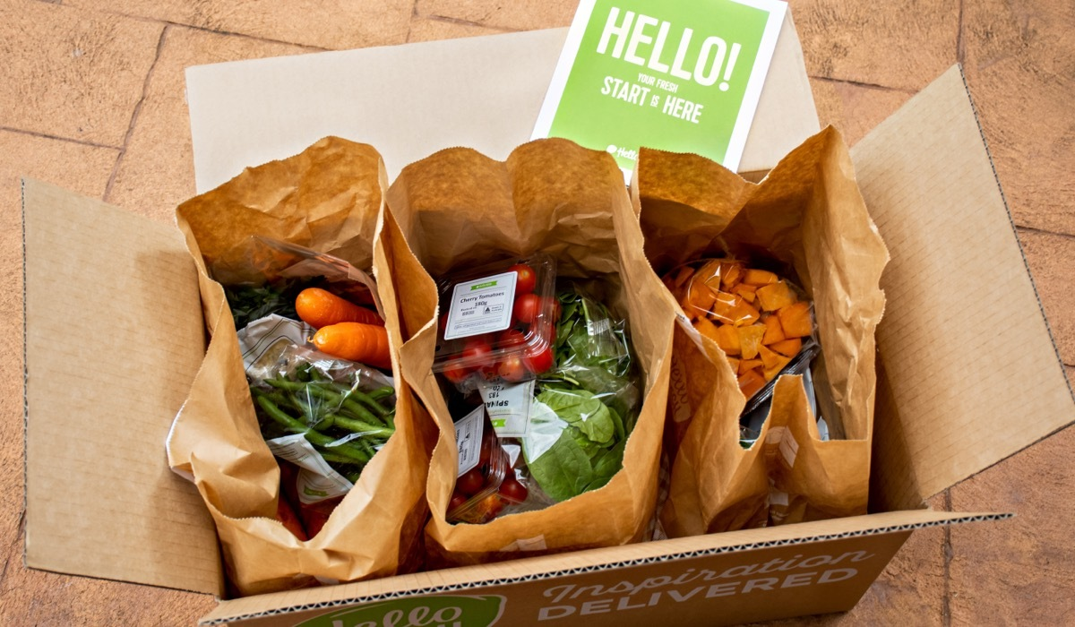 A Hello Fresh meal subscription box