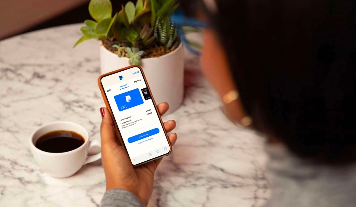 PayPal payments app for merchants on mobile phone.