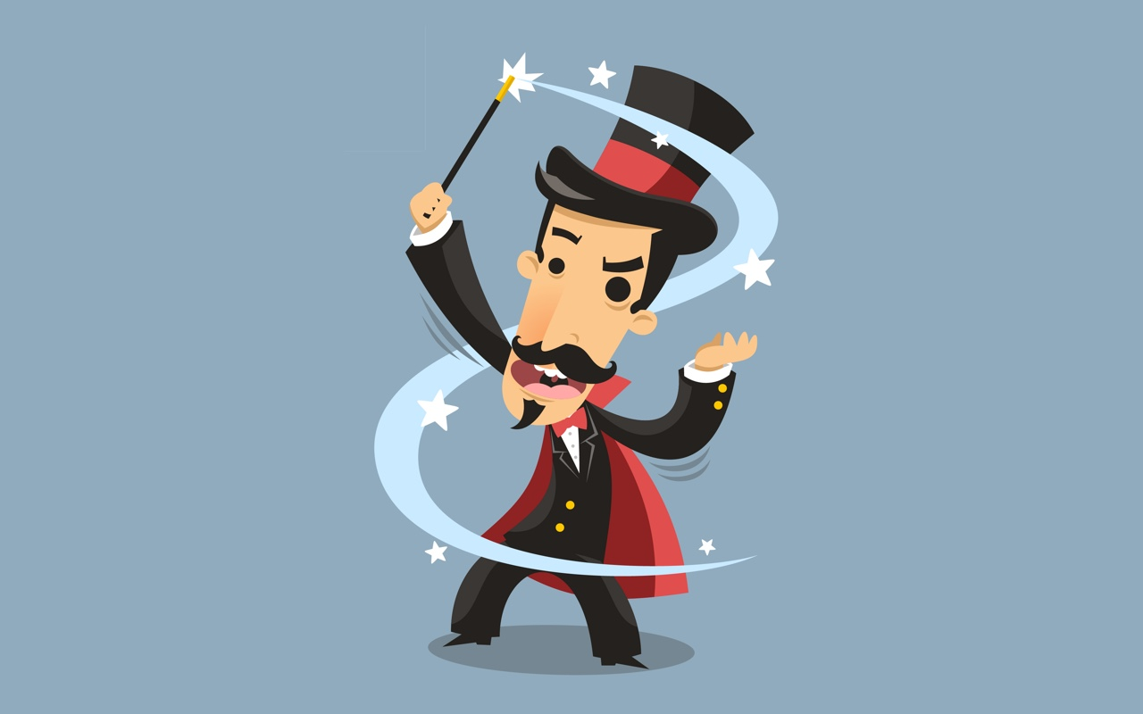 Illustration of a magician