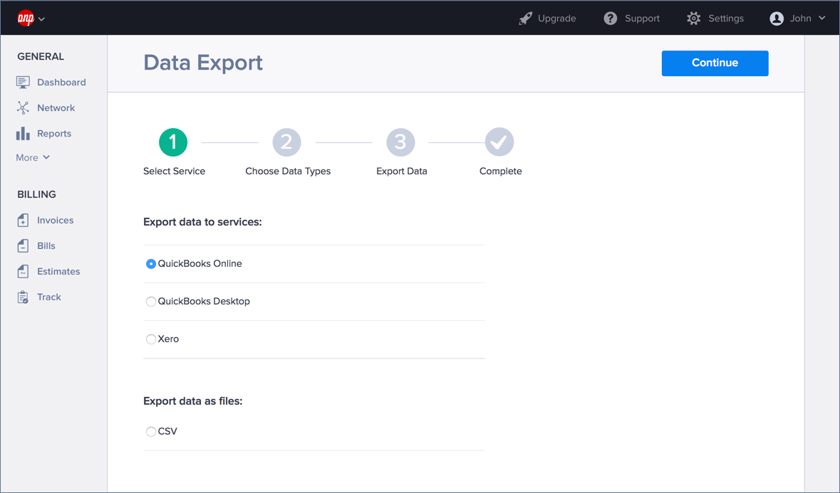 Export your Hiveage data to QuickBooks