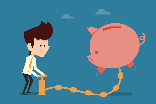 Save three months income in a savings account